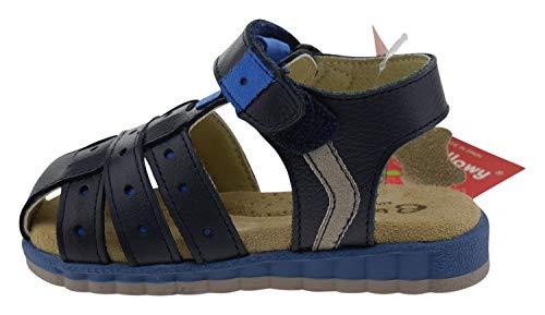 Billowy 6601c14 Leder Sandalen blau, Groesse:21.0