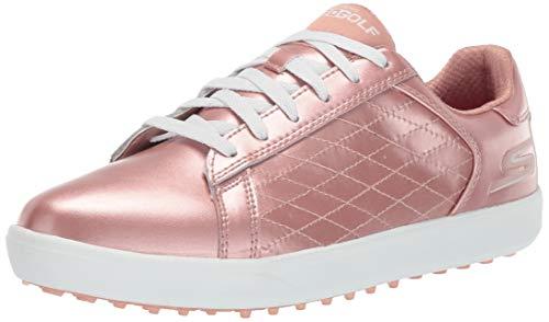 Skechers Women's Drive 4 Spikeless Waterproof Golf Shoe, Rose Gold, 9 M US