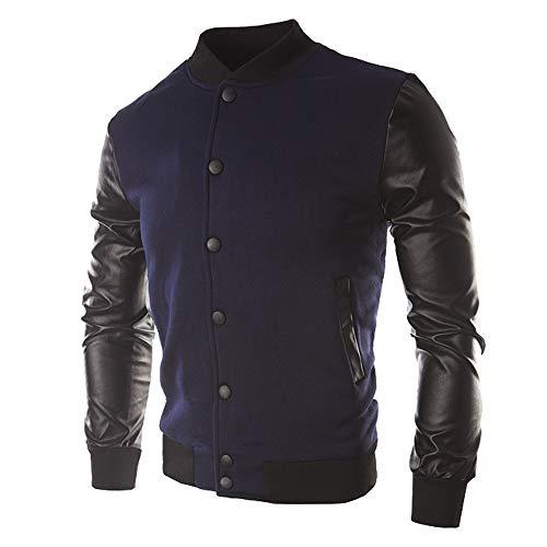 Leather Jacket Button Up Men