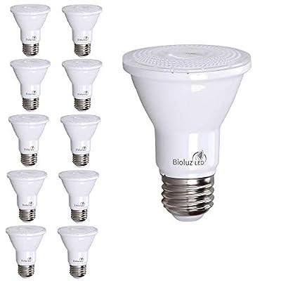 10 Pack PAR20 LED Bulb 75W Replacement, Bioluz LED Spot Light Bulb, 3000K Soft White, E26, 40 Degree Beam Angle, UL Listed