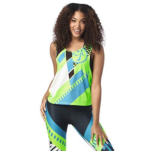 Zumba Zumba - Sudadera sin mangas para mujer, Mujer, color Entra en Lime, tamaño medium
