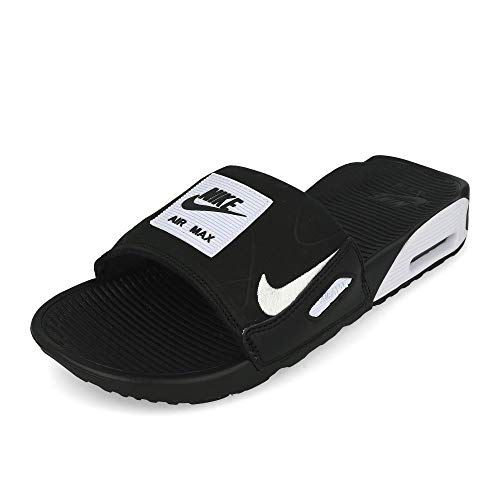 Nike Herren Air Max 90 Slide Sneaker, Black/White, 40 EU