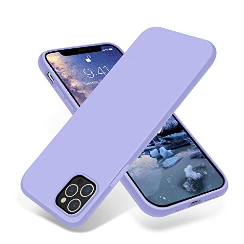OTOFLY Compatible with iPhone 12 Pro Max Case 6.7 inch(2020),[Silky and Soft Touch Series] Premium Soft Liquid Silicone Rubber Full-Body Protective Bumper Case for iPhone 12 Pro Max (Light Purple)