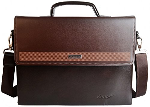 Kenox Vintage Pu Leather Men's Briefcase Laptop Bag Messenger Handbag