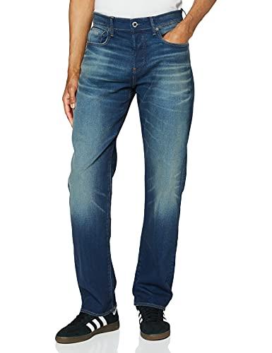 G-STAR RAW Herren Jeans 3301 Relaxed, Blau (Worker Blue Faded A088-A888), 32W / 32L