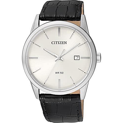 Citizen Mens Analog Quartz Uhr mit Leder Armband BI5000-01A