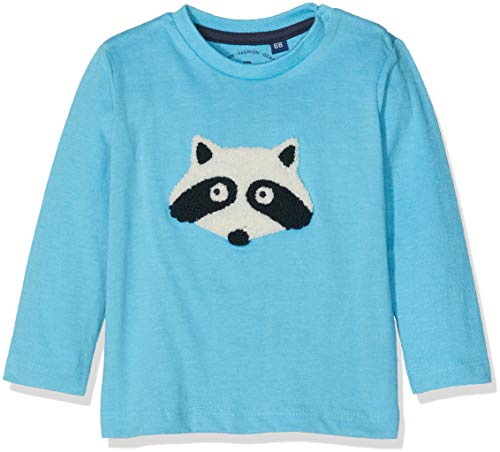 TOM TAILOR Kids 1/1 T-Shirt À Manches Longues, Bleu (Norse Blue|Blue 3059), 86 Bébé garçon