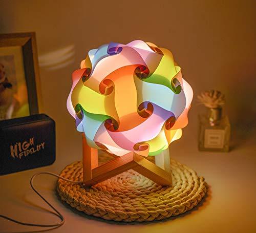 LED-Nachtlicht,Nachtlicht Kinder,Nachttischlampe Stimmungslicht,Kreative DIY Runde Lampe Nachtlicht,Tragbare USB-Anschluss Nachtlampe mit Schalter, für Heimdekoration und Geschenk 5 Colors