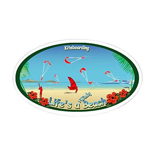 CafePress - Kiteboarding Kitesurfing Oval Sticker - Oval Bumper Sticker Car...