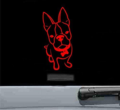 French bulldog Vinyl Decal Sticker (RED)