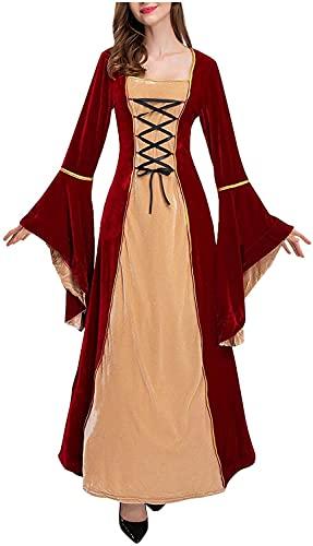 Babaseal Disfraz de princesa de terciopelo irlands para Halloween, Rojo, XX-Large