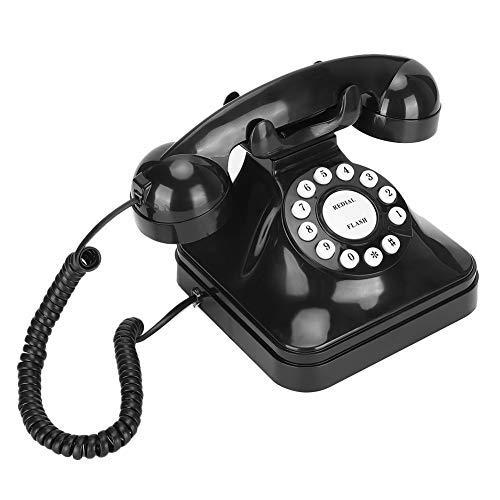 Vipxyc Teléfono Retro, teléfono Fijo con Base Antideslizante, Escritorio multifunción Teléfono Fabricado en plástico