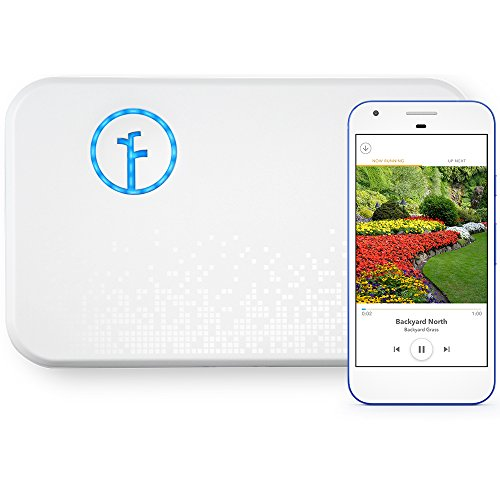 Rachio WiFi Smart Lawn Sprinkler Controller, 8-Zone 2nd Generation, Alexa and Apple HomeKit Compatible with Rain, Freeze and Wind Skip (8ZULW-B)