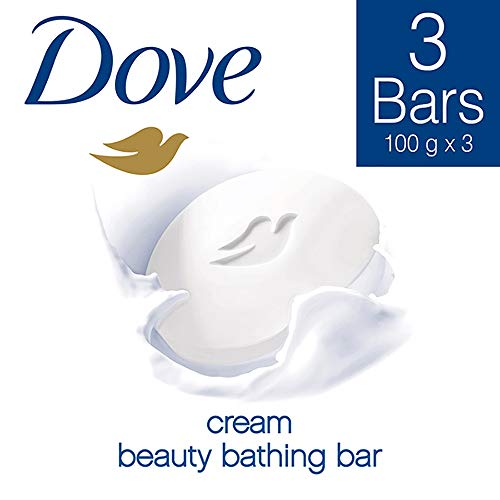 Dove Cream Beauty Bathing Bar, 100g (Pack of 3)