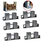 Holzstapelhilfe Feuerverzinkt stabile Holz Stapelhilfe Stapelhilfe Holzstapelhalter Brennholz Kaminholz Gestell Holz (6 Stück)