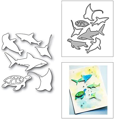 Ocean Branded goods World Deep Miami Mall Sea Fish Metal for Cutting Paper Stencils Dies