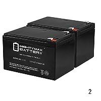 12V 12Ah互換バッテリーfor APC su1000net su1000rm UPS–2パック–Mighty Maxバッテリーブランド製品