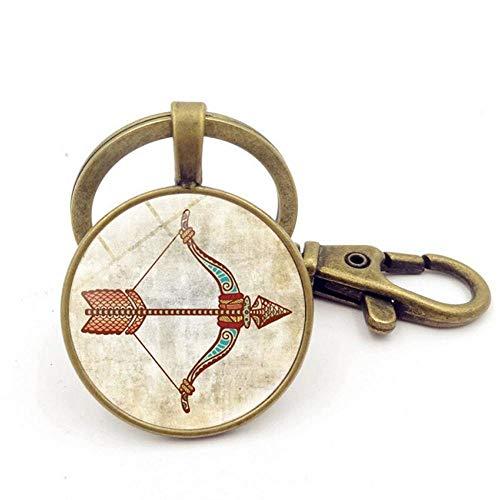 PiniceCore Anmeldung DIY Zodiac Keychain Schütze Anhänger Schlüsselanhänger Schlüsselanhänger