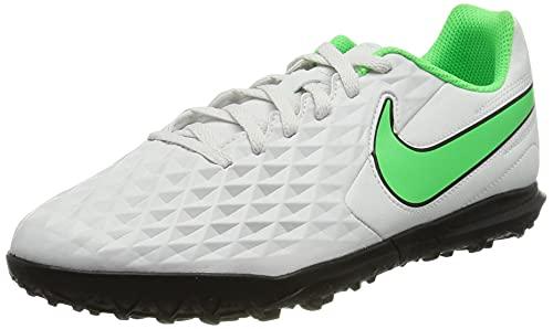 Nike JR Legend 8 Club TF, Zapatillas de ftbol, Platinum Tint Rage Green Black, 37.5 EU