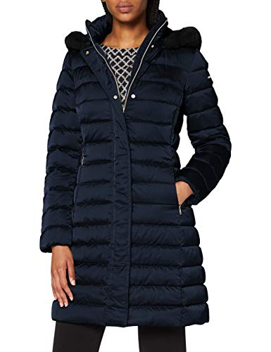 Geox Womens W BETTANIE Down Coat, BLUE NIGHTS, 40 (Herstellergröße:46)