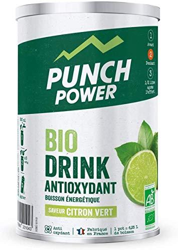 PUNCH POWER - Biodrink Antioxydant - Citron vert - Pot 500 g - Boisson Glucidique de l'effort - Riche en Vitamines - Bio - Sans Gluten - Marque Française
