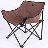 YOLER Portable Camping Chair, Compact Folding Sports Chair with Carry Bag, for Outdoor Camping, Picnic, Backpacking, Hiking Brown