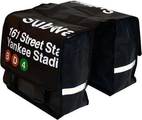 Gepäckträgertasche Doppel Fahrradtasche Fahrrad Satteltasche Gepäcktasche Schwarz