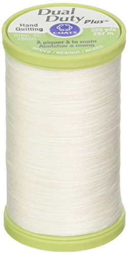 Coats & Clark Dual Duty Plus Hand Quilting Thread 325 Yards White S960-0100 (3-Pack)
