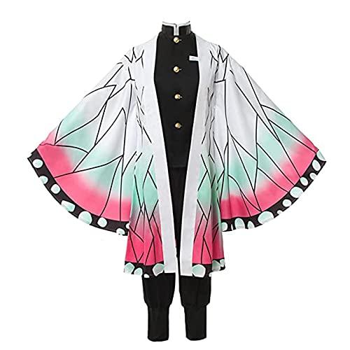 Zhongkaihua Kochou Shinobu - Kimono para mujer, disfraz de Kochou Shinobu, capa de mariposa, capa de chaqueta, conjunto de traje de anime, cosplay, carnaval, fiesta de Halloween, vestido de cosplay