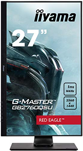 iiyama ゲーミングモニター27型144Hz液晶/TN ノングレア WQHD 2560x1440/1ms昇降/ DisplayPort, HDMI, DVI-D/3年保証 GB2760QSU-B1