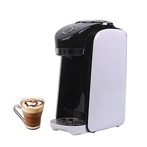Koffiezetapparaat, eenvoudig te reinigen, bont voor kopjes, machine met express met geïntegreerde grinder en herbruikbaar roestvrijstalen filter, zwart en wit.
