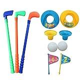 Juego de Golf para Niños - 3 clubes, 2 hoyos set 2 pelotas de golf - Excelente kit para Niños o Padres - Juegos aire libre infantiles - juguete para interiores y exteriores - Regalos de cumpleaños