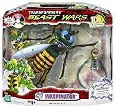 Transformers Beast Wars 10th Anniversary Waspinator Action Figure with DVD and Trans-Mutate Part