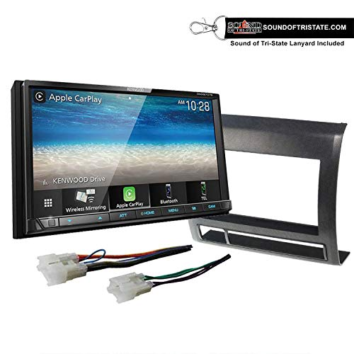 Kenwood DMX9707S Digital Multimedia Receiver + Install kit 05-11 Non Amplified Toyota Tacoma (Black) + Sound of Tri-State Lanyard Bundle