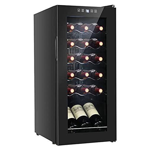 18 Bottle Compressor Wine Cooler Refrigerator Freestanding Wine Cellar 41-64°F Digital Temperature Control Wine Fridge for Red White Champagne Black