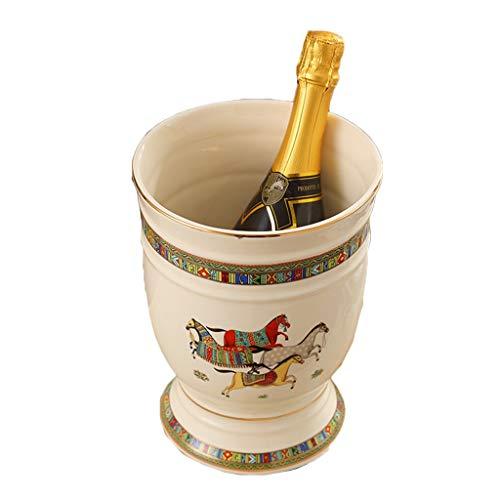 Cubiteras Cubo De Hielo Cubo De Hielo Cerveza Vinotecas Botella De Cerámica Cubos De Hielo Del Cubo De Hielo Cubo De Hielo Bar Compartimiento Envase ( Color : Blanco , Size : 19*19*24cm )