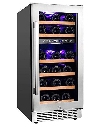 Aobosi Dual Zone Wine Cooler 15 Inch