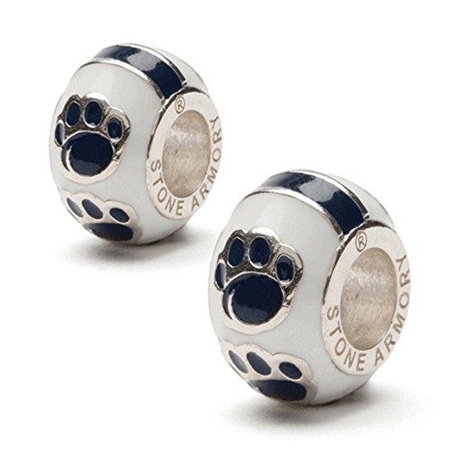Penn State Bead Charms | Nittany Lion Bead Charms | Pennsylvania State University Bead Charms Pendants (Set of 2-Paw Bead Charms)