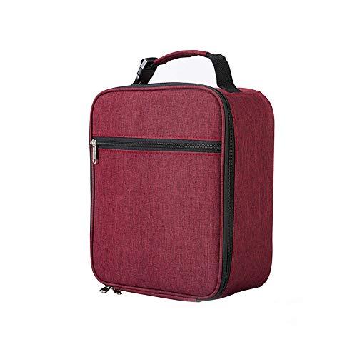 lunchbag damen,Wiederverwendbare isolierte Lunchtasche robuste Oxford-Lunchbox, Kühltasche, Tragetasche für Outdoor-Geschirr und Picknickbedarf, Schule und Arbeit (rot)