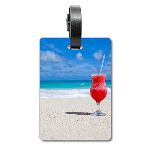 Ocean Sand Beach - Etiqueta para identificación de turistas, diseño de zumo de sandía