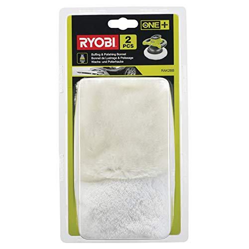 Ryobi Wachs- und Polierhaubenset RAK2BB (je 1x Wachshaube & Polierhaube) passend für R18B-0 - 5132002786