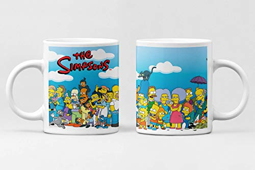 Simpsons City Tasse aus Keramik, Kaffeetasse, alle Figuren der Simpsons