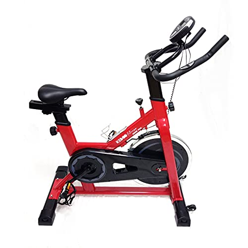 Bicicleta Spinning Estática Keboo Serie 700, Volante de Inercia 15 kg, 8 Programas, Asiento y Manillar Ajustable y Pantalla LCD