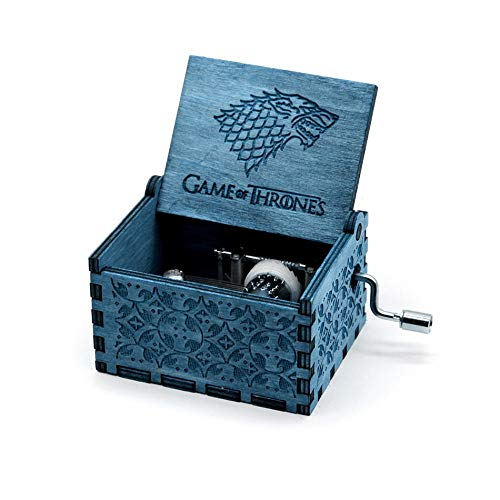 XWF Spieluhren 2020 New Anonymitäts Holz geschnitzt Handkurbel Queen-Music Box Zelda Music Box Kinder/Freunde Geburtstagsgeschenk Mädchen (Color : Light Green)