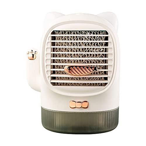 Carino Lucky Cat Air Cooler, 3 in 1 Aroma condizionatore d'aria, Lucky Cat Air Cooler, 3 livelli di vento regolabile da tavolo Aroma macchina per la casa