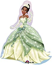 QUALITEX Princess and The Frog Tiana Party Balloon Mylar Decoration 14in 6PC