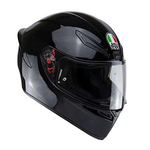 AGV E2205 K1 Solid Casco Moto Integral, Hombre, Negro, L