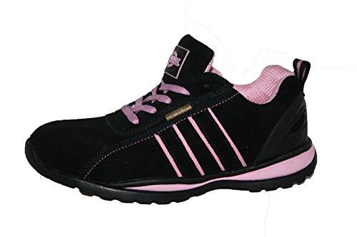 Ottawa Scarpe antinfortunistiche da donna, con punta in acciaio leggero, stringate, leggere, rosa (Pink), 40