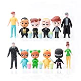 """12 Pcs Boss Baby Toys, Birthday Cake Decorations for Baby Boss, Action Figures Cake Toppers Set, Mini Toys for Kids/Babies Party Supplies, Cupcake Playset for Birthday, 3-4"""" Cake Toy"""