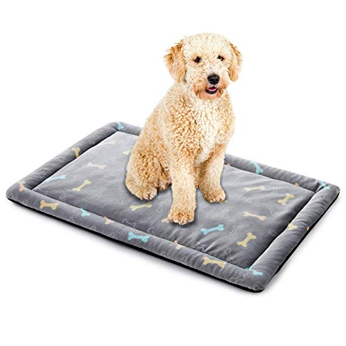 ALLISANDRO® Super Softe Warme und Weiche Decke für Haustier Hundedecke Katzendecke Fleece-Decke/Tier Schlafdeck (XL, Grau Bone Matte)